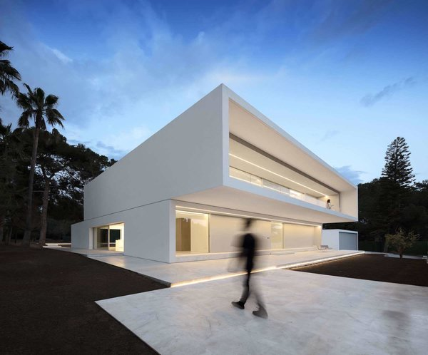 Front facade Photo  of House Between the Pine Forest modern home