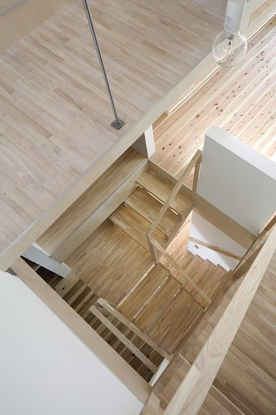 Staircase Photo  of House in Kitami modern home