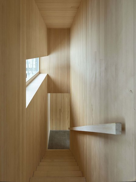 Staircase Photo 3 of The Small Black modern home