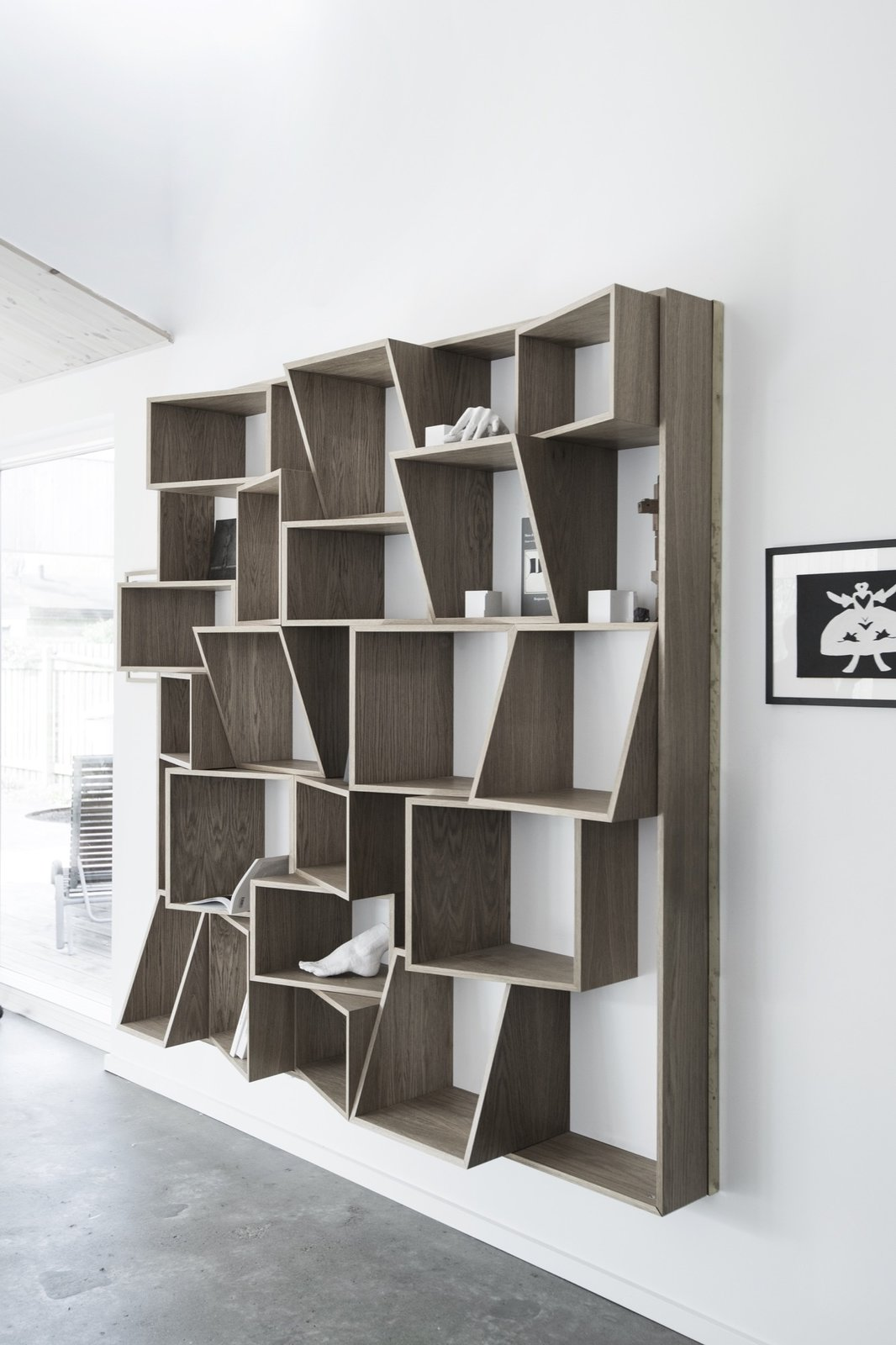 Tagged: Bookcase, Shelves, Storage Room, and Shelves Storage Type.  The Roof House by Leibal