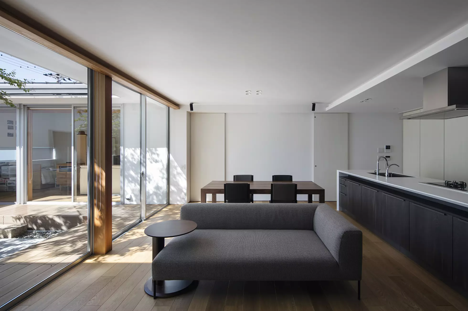 Tagged: Living Room, Sofa, and Light Hardwood Floor.  House in Mihara by Leibal