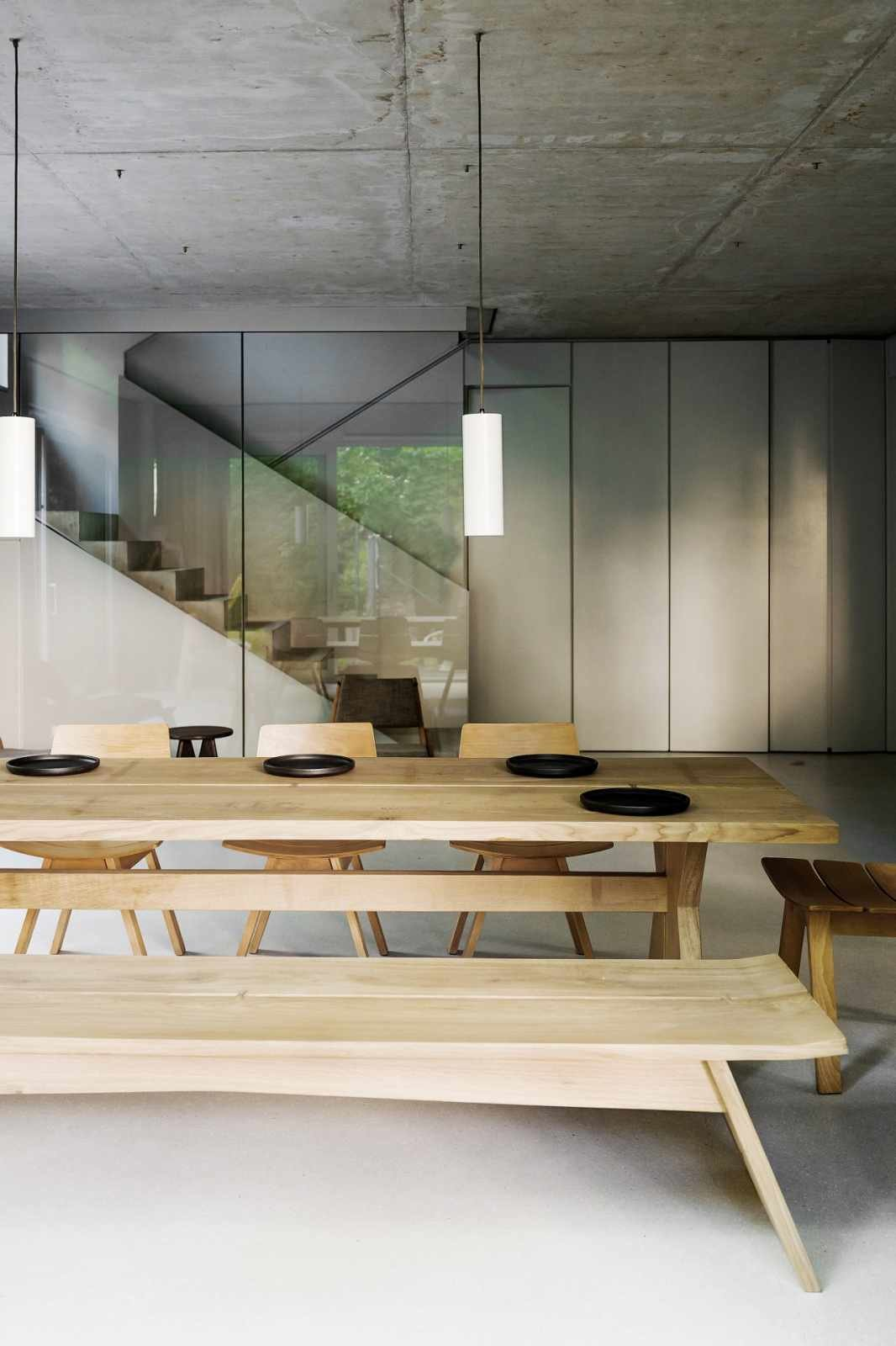 Tagged: Dining Room, Chair, Table, and Pendant Lighting.  House on Prenzlauer Berg by Leibal