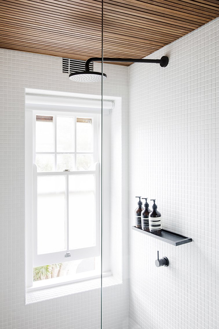 Tagged: Bath Room, Enclosed Shower, and Ceramic Tile Wall.  Nano Pad by Leibal