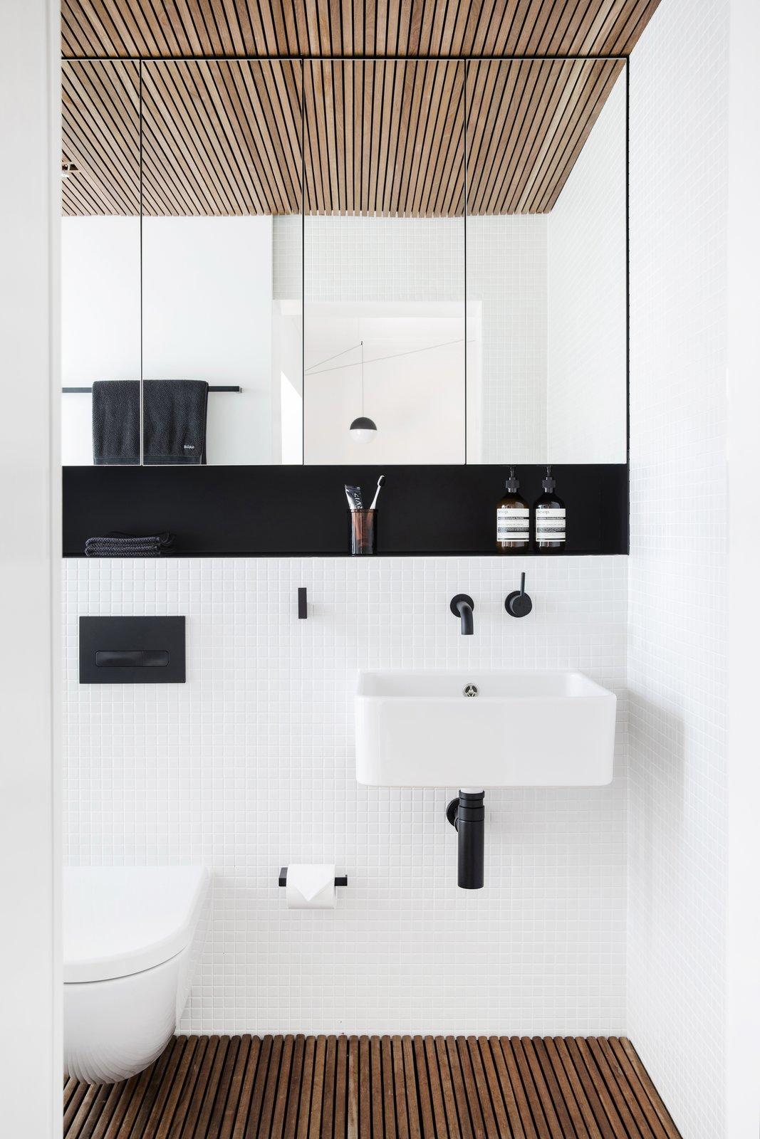 Tagged: Bath Room, Wall Mount Sink, and Medium Hardwood Floor. Nano Pad by Leibal
