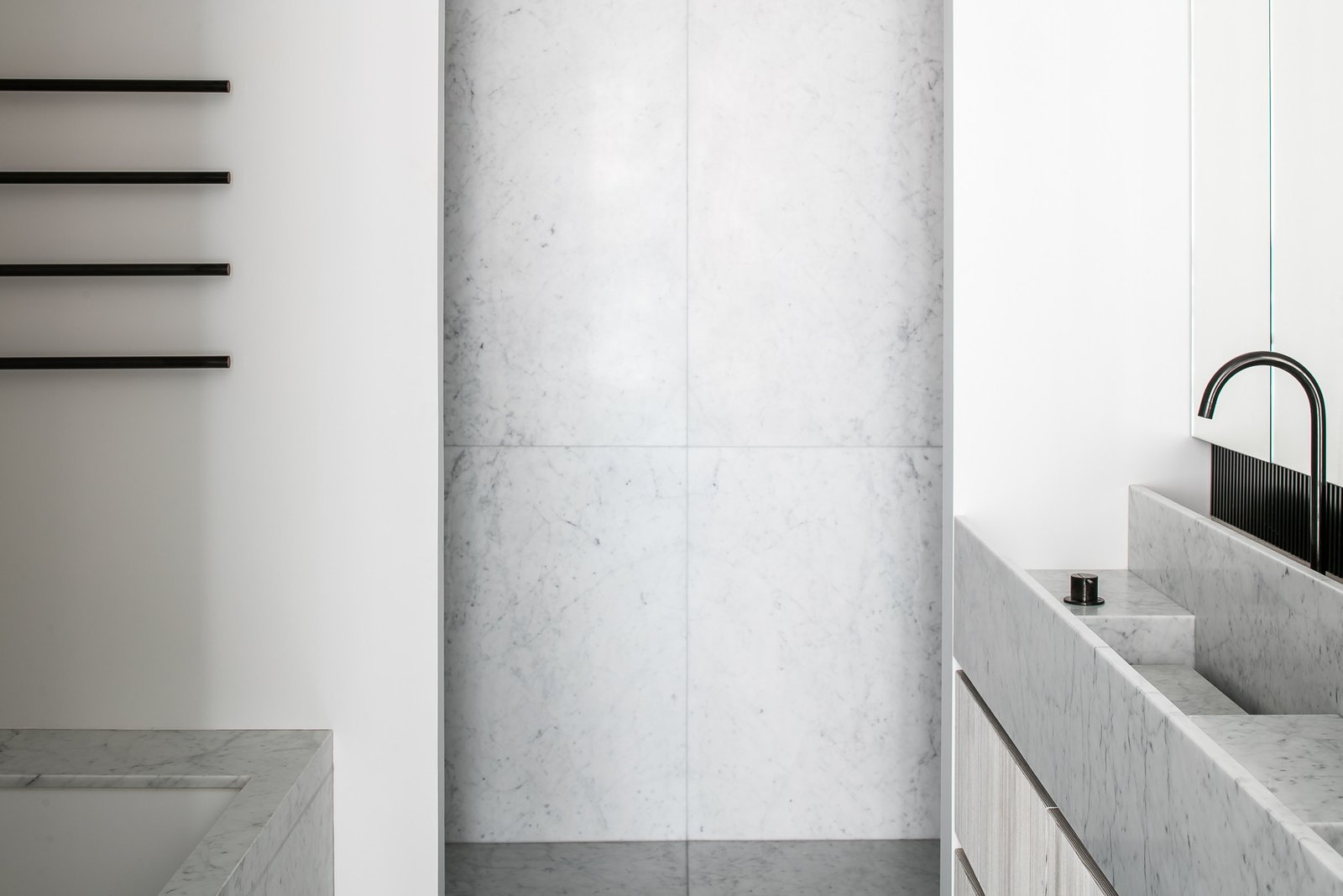 Tagged: Bath Room and Marble Floor.  Penthouse O by Leibal
