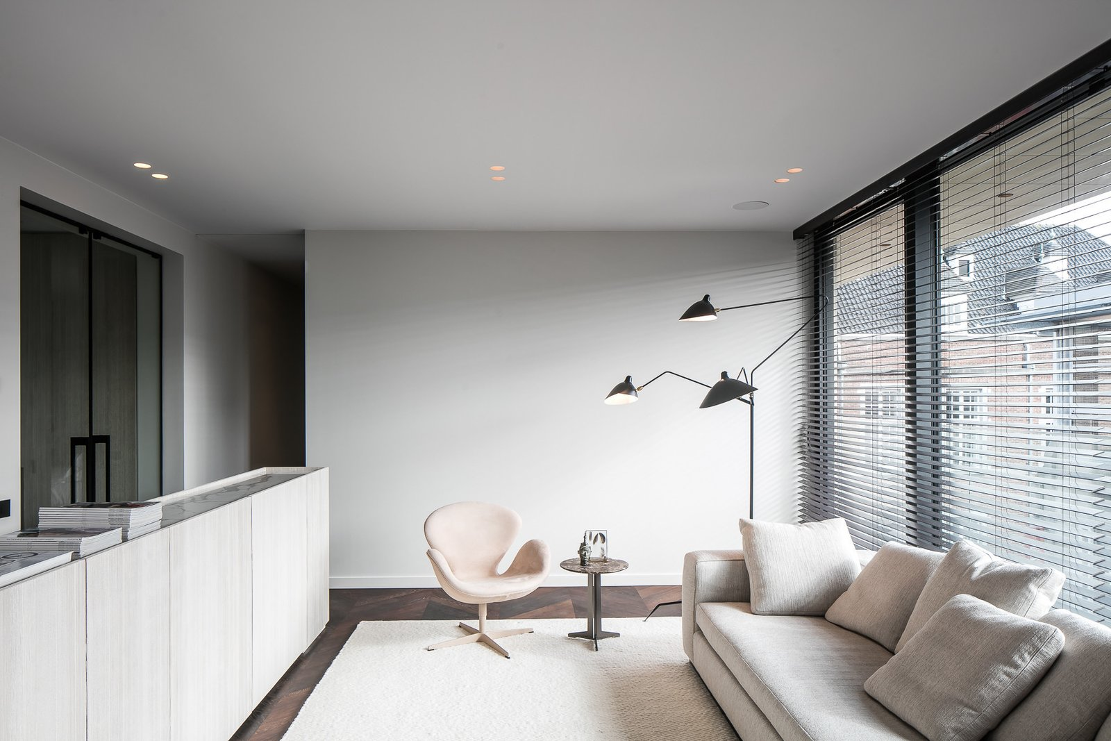 Tagged: Living Room, Chair, Dark Hardwood Floor, Sofa, and Recessed Lighting.  Penthouse O by Leibal