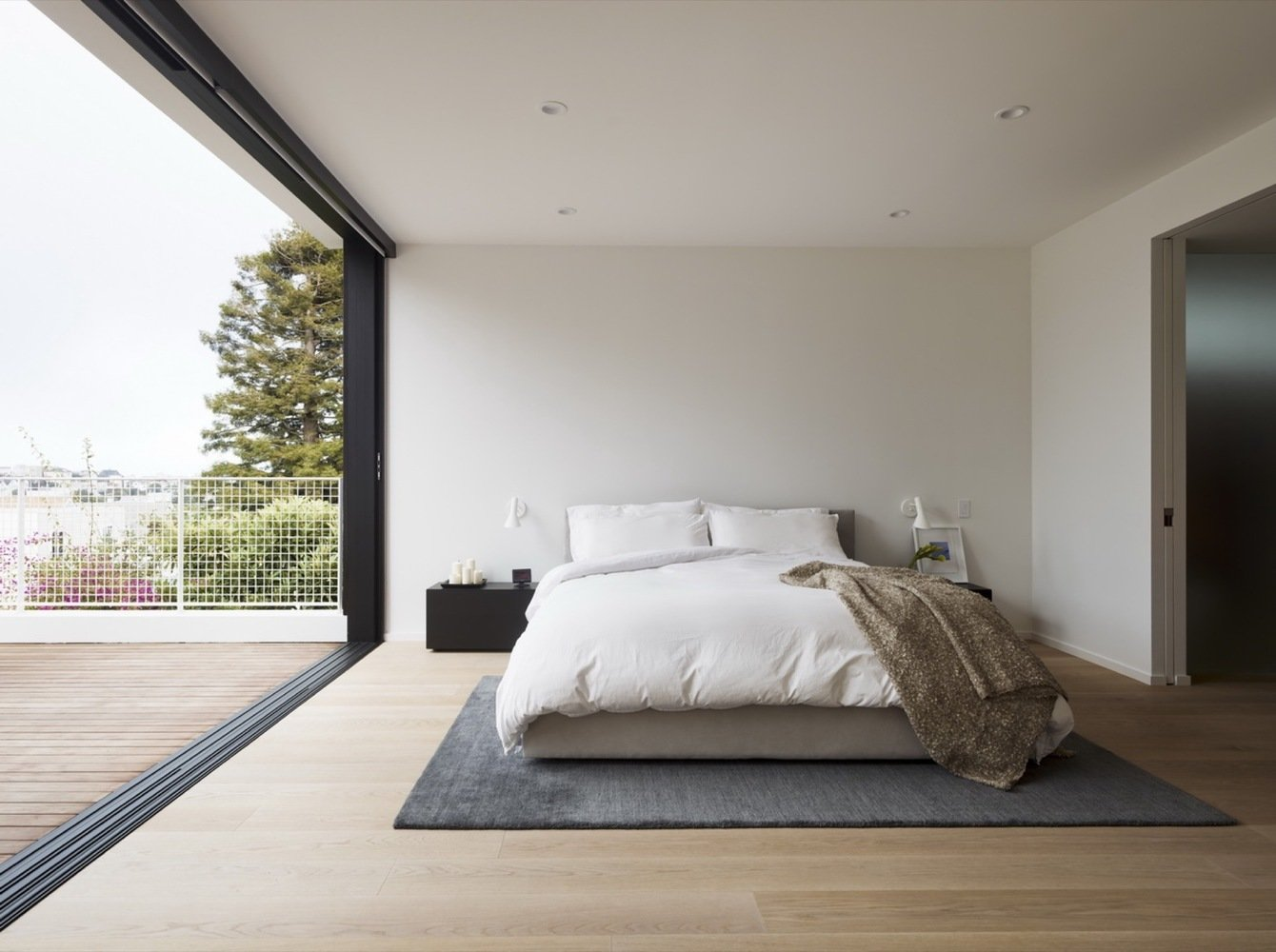 Tagged: Bedroom, Bed, Recessed Lighting, and Light Hardwood Floor.  Switchback House by Leibal