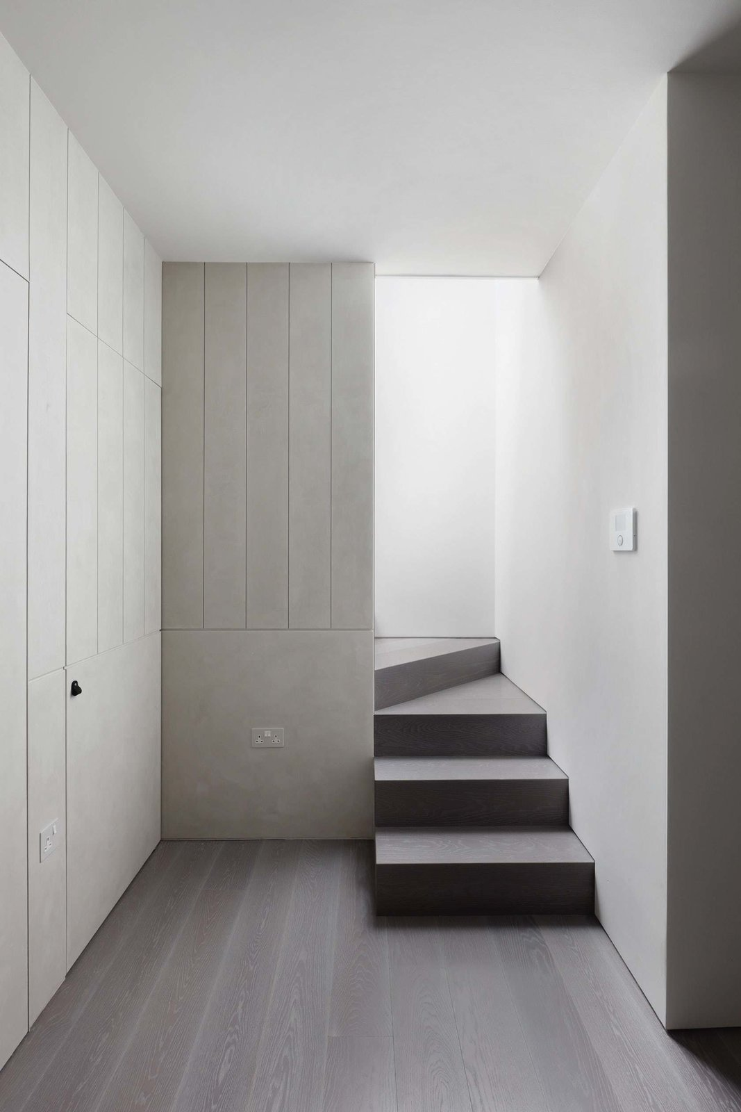 Tagged: Staircase, Wood Tread, and Wood Railing.  Maida Vale Apartment by Leibal