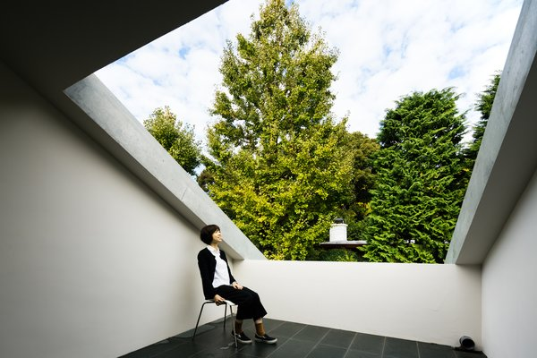 Modern home with outdoor, rooftop, trees, tile patio, porch, deck, and small patio, porch, deck. Photo 7 of ROROOF vol.2