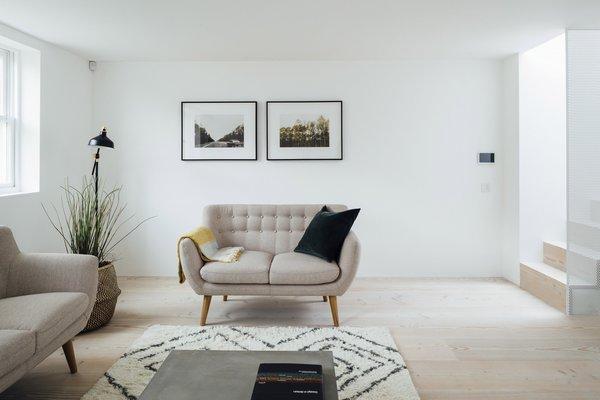 Modern home with living room, sofa, and light hardwood floor. Photo 3 of Stanhope Gardens