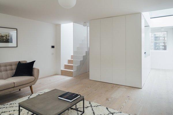 Modern home with living room, sofa, and light hardwood floor. Photo 4 of Stanhope Gardens