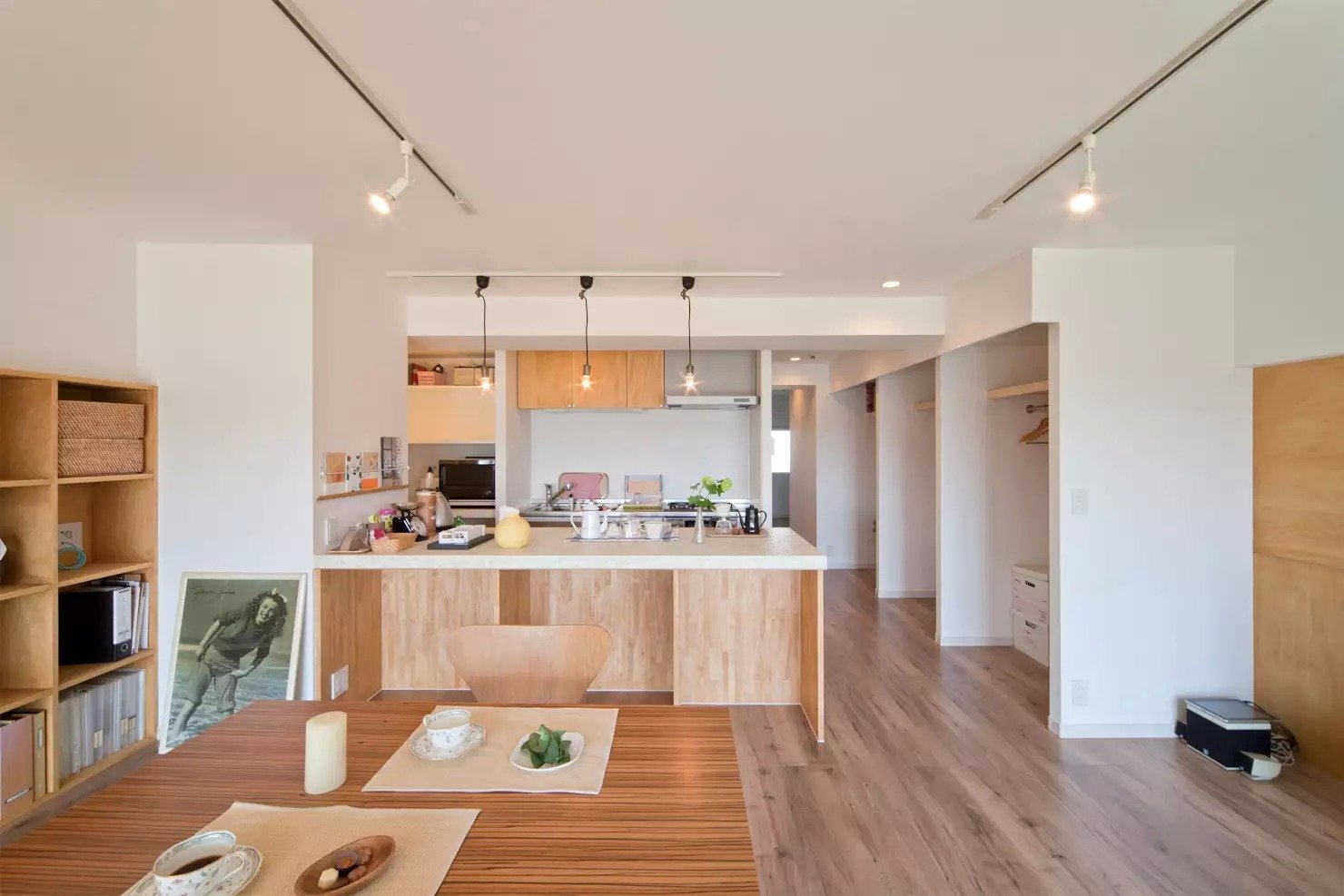 Tagged: Kitchen, White Cabinet, and Medium Hardwood Floor.  Book Cafe House by Leibal