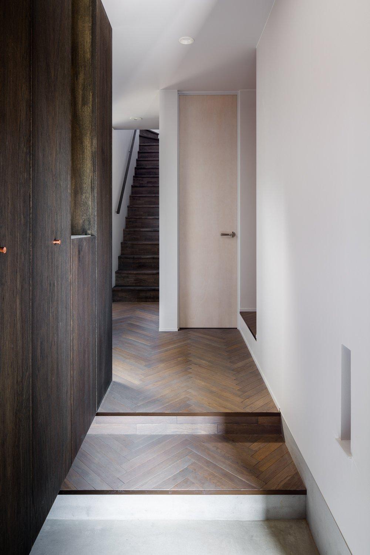 Tagged: Staircase, Wood Tread, and Wood Railing.  Residence in Takariya by Leibal