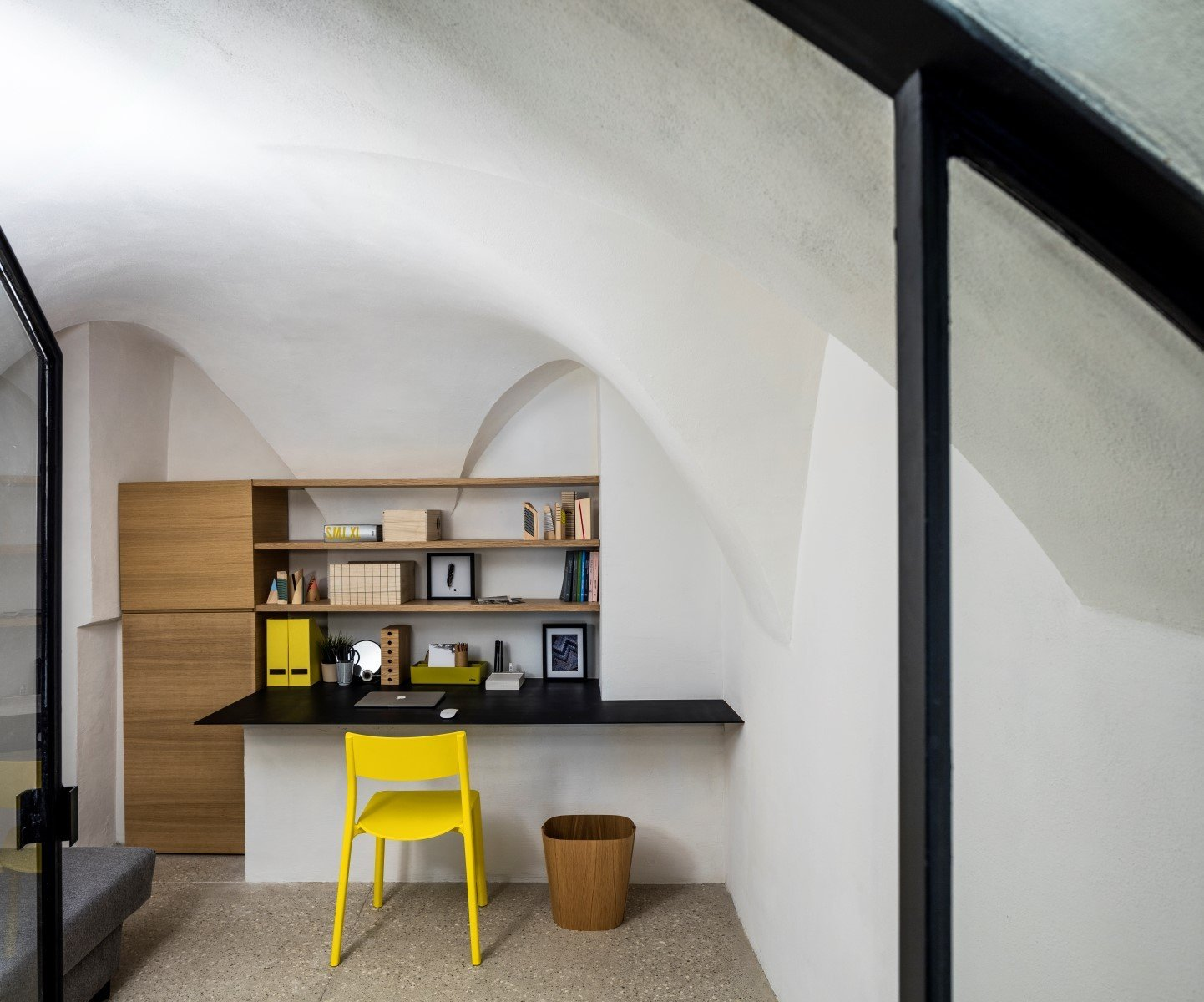 Tagged: Office, Study, Chair, and Terrazzo Floor.  Old Jaffa House by Leibal