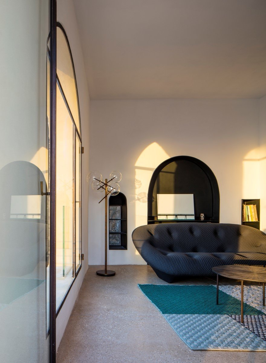 Tagged: Living Room, Terrazzo Floor, Chair, and Floor Lighting.  Old Jaffa House by Leibal