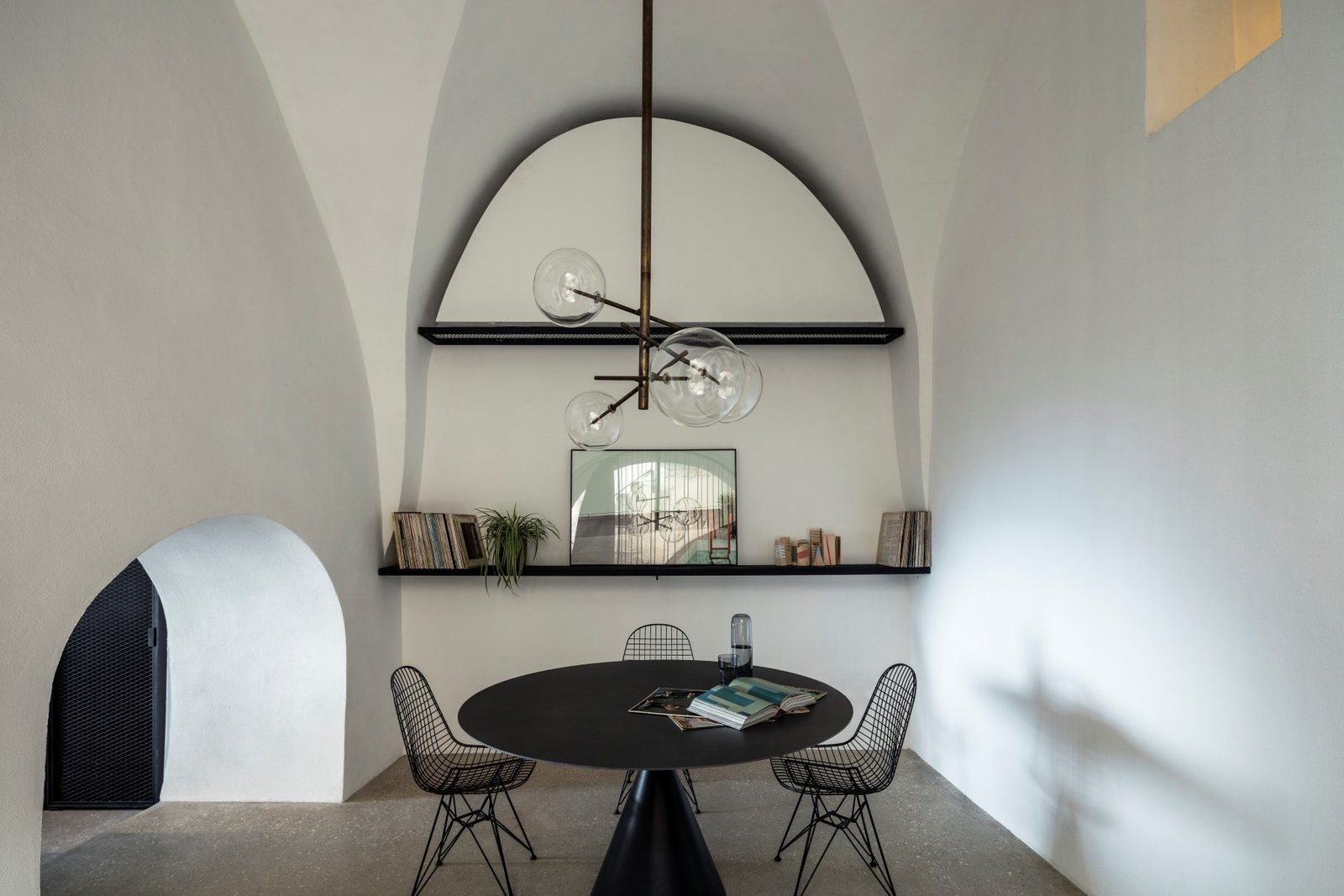 Tagged: Dining Room, Chair, Table, Terrazzo Floor, and Pendant Lighting.  Old Jaffa House by Leibal