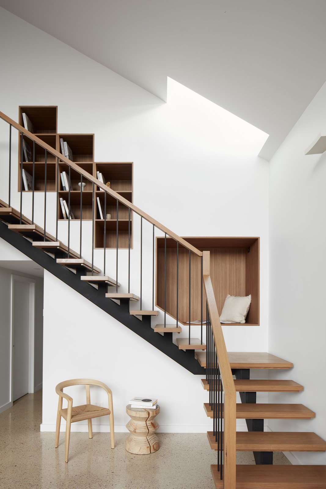 Tagged: Staircase, Wood Tread, and Wood Railing.  Kingsville Residence by Leibal