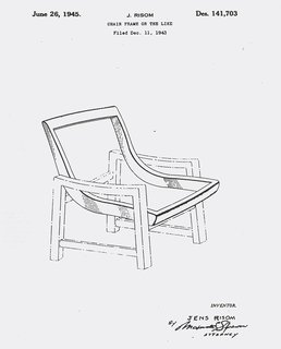 Knoll Inspiration:  In Conversation with  Helen Risom - Photo 6 of 8 - Jens Risom's patent for a chair frame, c. 1943. Image from the Knoll Archive.