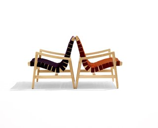 Knoll Inspiration:  In Conversation with  Helen Risom - Photo 8 of 8 - Jens Risom's 650 Line Lounge Chair with Arms. Photograph by Ilan Rubin.