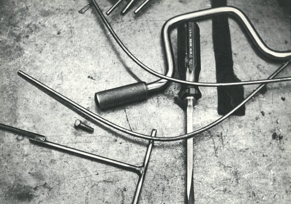 Making Bertoia - Photo 3 of 14 - Tools used in the assembly of the Bertoia Collection. Image from the Knoll Archive.