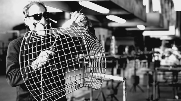 Making Bertoia - Photo 8 of 14 - Edges are welded and finished with an acetylene torch. Photography by Knoll.