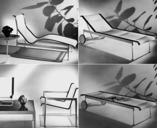 Richard Schultz: Always Pioneering - Photo 6 of 12 - Clockwise: 1966 Contour Chaise, 1966 Adjustable Chaise (upright), 1966 Adjustable Chaise (reclined), 1966 Lounge Chair and Coffee Table.