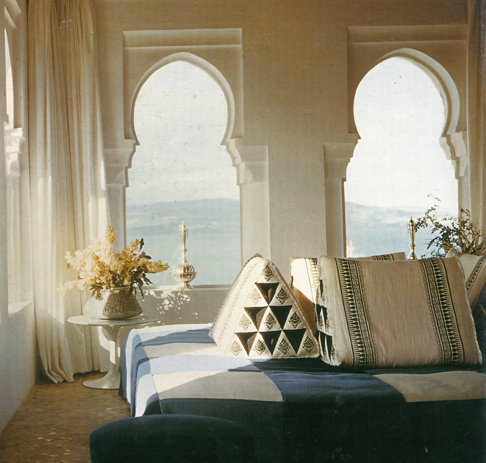 Yves Vidal's York Castle in Tangiers, Morocco. Photograph from the Knoll Archive.  Photo 8 of 9 in Yves Vidal: Knoll International