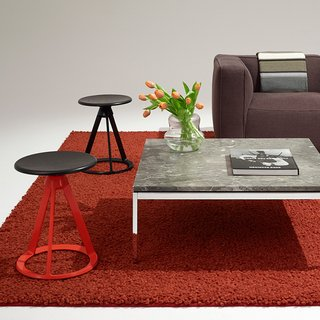 Piton™ Adjustable Height Stools and Florence Knoll Coffee Table. Photograph by Knoll.