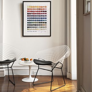 Knoll Inspiration: Reintroducing the Bertoia Two-Tone - Photo 1 of 6 - Bertoia Two-Tone Diamond Chairs, 2016. Photograph by Knoll.
