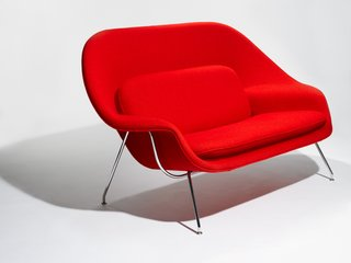 Knoll Inspiration: Reintroducing the Womb Settee - Photo 1 of 8 - The Model 73 Womb Settee designed by Eero Saarinen, 1948. Photograph by Knoll.