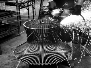 Knoll Inspiration: Introducing Platner Gold - Photo 2 of 6 - Production process behind the Platner Coffee Table. Photograph from the Knoll Archives.