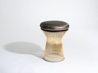 "Knoll Inspiration: Introducing Platner Gold - Photo 4 of 6 - Platner Stool <span style=""line-height: 1.8;"">in 18k gold-plated steel. Photograph by Knoll.</span>"