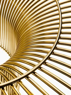 "Knoll Inspiration: Introducing Platner Gold - Photo 5 of 6 - Platner Coffee Table <span style=""line-height: 1.8;"">in 18k gold-plated steel. Photograph by Knoll.</span>"