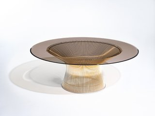 Knoll Inspiration: Introducing Platner Gold - Photo 6 of 6 - Platner Coffee Table in 18k gold-plated steel. Photograph by Knoll.