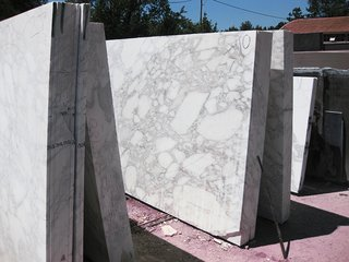 Marble slabs being acclimatized, prior to production, 2013. Photography by Knoll.