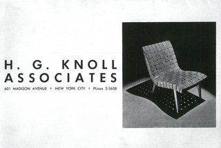 Knoll Inspiration: The Answer is Risom - Photo 1 of 9 - Original Hans G. Knoll Associates advertisement with the 650 Line Lounge Chair designed by Jens Risom. Image from the Knoll Archive.
