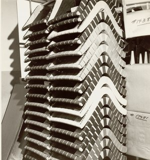 Knoll Inspiration: The Answer is Risom - Photo 5 of 9 - Stacks of Jens Risom's 650 Line Lounge Chairs. Image from the Knoll Archive.
