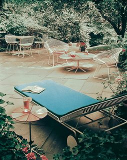 Coming Up Roses: The Petal Collection - Photo 1 of 5 - The Petal Collection accompanied by Harry Bertoia's Diamond and Side Chairs. Photograph from the Knoll Archive.