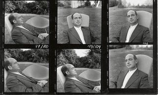 Knoll Inspiration: Harry Bertoia Centennial Celebration - Photo 4 of 5 - Portraits of Harry Bertoia from a photograph contact sheet for Knoll publicity materials.