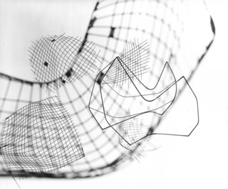 Knoll Inspiration: It Began With A Sketch - Photo 2 of 6 - Photo-montage of sketches for the Wire Collection by Harry Bertoia. Photograph by Herbert Matter. Image from the Knoll Archives.