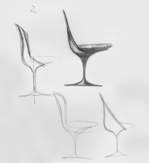 Knoll Inspiration: It Began With A Sketch - Photo 3 of 6 - Sketches for the Tulip Chair by Eero Saarinen. Image form the Knoll Archives.