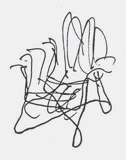 Knoll Inspiration: It Began With A Sketch - Photo 5 of 6 - Sketch for the Bentwood Collection by Frank Gehry. Image from the Knoll Archives.