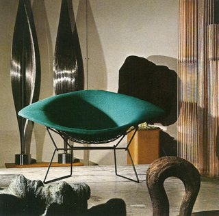 Knoll Inspiration: In Conversation With Jon Naar - Photo 3 of 10 - Harry Bertoia's Large Diamond Chair in Bally, Pennsylvania, 1973.