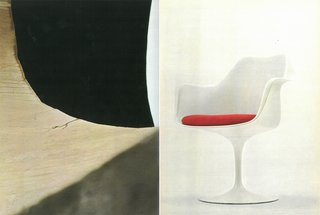 Knoll Inspiration: In Conversation With Jon Naar - Photo 4 of 10 - Left: Eero Saarinen's TWA Center at JFK Airport in New York, New York. Right: Eero Saarinen's Tulip Arm Chair.
