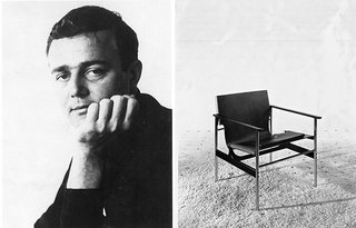 Knoll Inspiration: The Pollock Arm Chair - Photo 1 of 6 - (Left) Portrait of Charles Pollock in the early 1960s. (Right) The Pollock Arm Chair (657), c.1960
