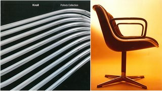 "Knoll Inspiration: The Pollock Arm Chair - Photo 4 of 6 - (Left) Knoll Pollock Collection lookbook, with photography by Mario Carrieri <span style=""line-height: 1.8;"">(Right) The Pollock Executive Chair</span>"