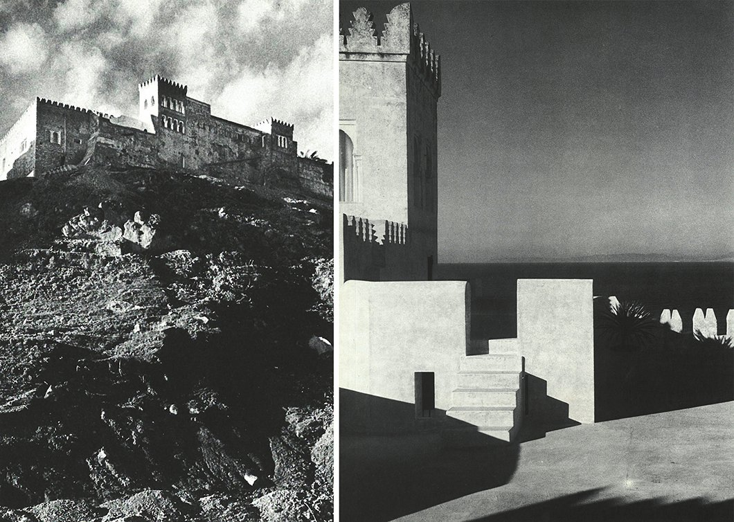 York Castle, with its crenellated rampart walls, was situated above the beach on the edge of Tangier.  Photo 3 of 12 in Morocco Modern