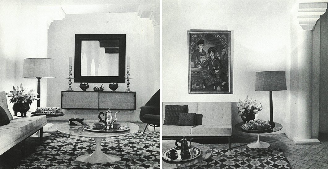 The lavishly decorated living room of York Castle, where mint tea would be served on Saarinen Coffee Tables.  Photo 11 of 12 in Morocco Modern