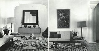 Morocco Modern - Photo 10 of 11 - The lavishly decorated living room of York Castle, where mint tea would be served on Saarinen Coffee Tables.