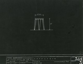 Introducing the Hairpin™ Stacking Table - Photo 5 of 6 - Early scale drawing of the Model 75 Stacking Stool. Image from the Knoll Archive.